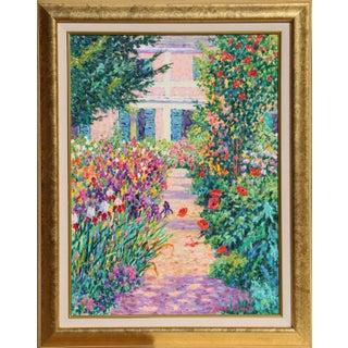 "Diane Monet, ""Shady Path"", Impressionist Landscape Painting For Sale"