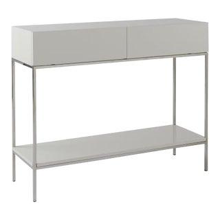 West Elm Lacquer Console Table For Sale