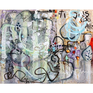 Janet Lage Stick It - Not Enough to Be in Love Graffiti Inspired Painting 2013 For Sale