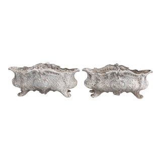 19th-Century French Cast Iron Jardinieres - a Pair For Sale