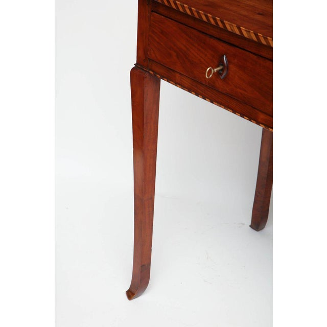 18th Century Italian Cherry Table With Parquetry Border and Two Drawers For Sale - Image 9 of 10
