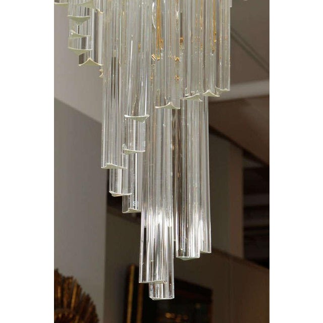 Early 20th Century Murano Glass Foyer Chandelier For Sale - Image 5 of 9