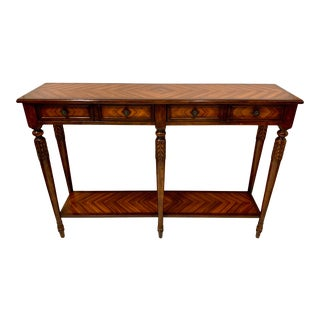 Rosewood Console Table Att. Maitland Smith For Sale
