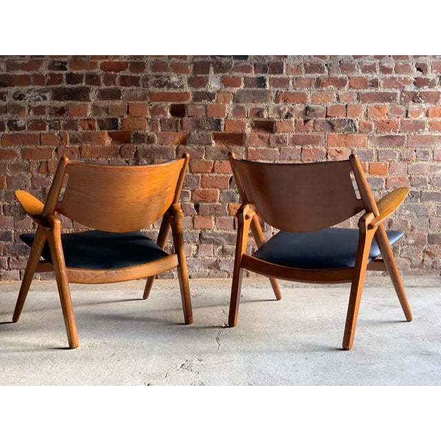 Hans Wegner Sawbuck Chairs Model CH-28 by Carl Hansen 1950s - A Pair For Sale - Image 12 of 13
