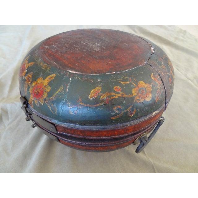 Tibetan Round Wood Box - Image 7 of 10