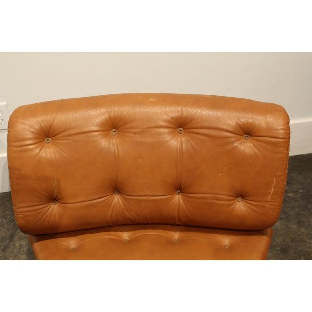 Brown Verner Panton for Fritz Hansen Pantonova Leather Lounge Chair and Ottoman For Sale - Image 8 of 13
