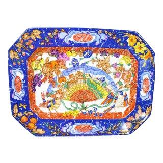"""Hermes Lapis Tessellated Porcelain Platter; """"Marqueteries De Pierres d'Orient Et D'Occident"""""""