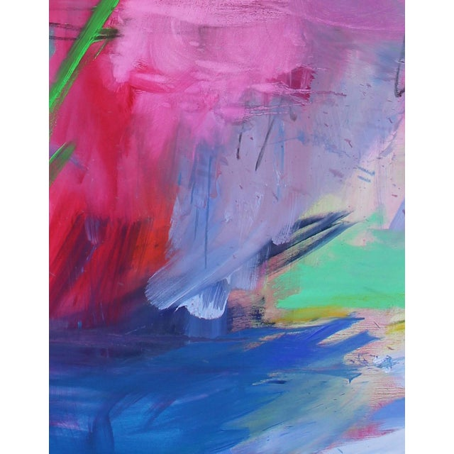 """Trixie Pitts """"Uluru"""" by Trixie Pitts Extra-Large Abstract Landscape Painting For Sale - Image 4 of 11"""