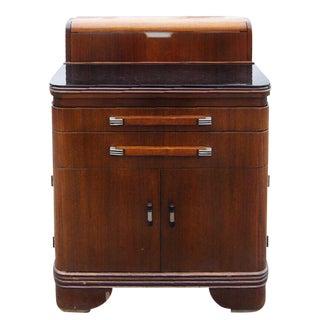 1940's Hamilton Art Deco Streamline Moderne Mahogany Doctor's Cabinet