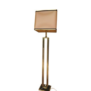 Willy Rizzo Floor Lamp Chrome Brass 71 Inch 1970