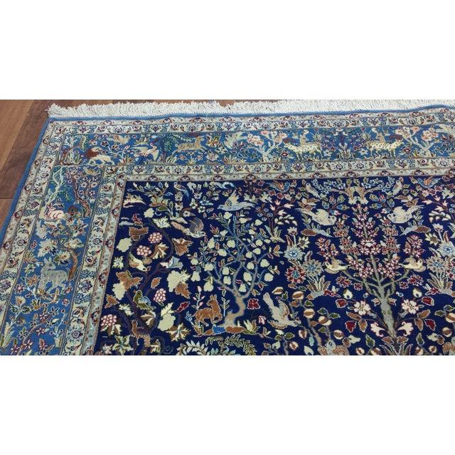 "Vintage Isfahan Rug Designed by Ali Dardashti Origin: Iran US Size: 5' 7"" x 8' 9"" Circa: 1950 Metric Size: 1.70 x 2.67 meters"