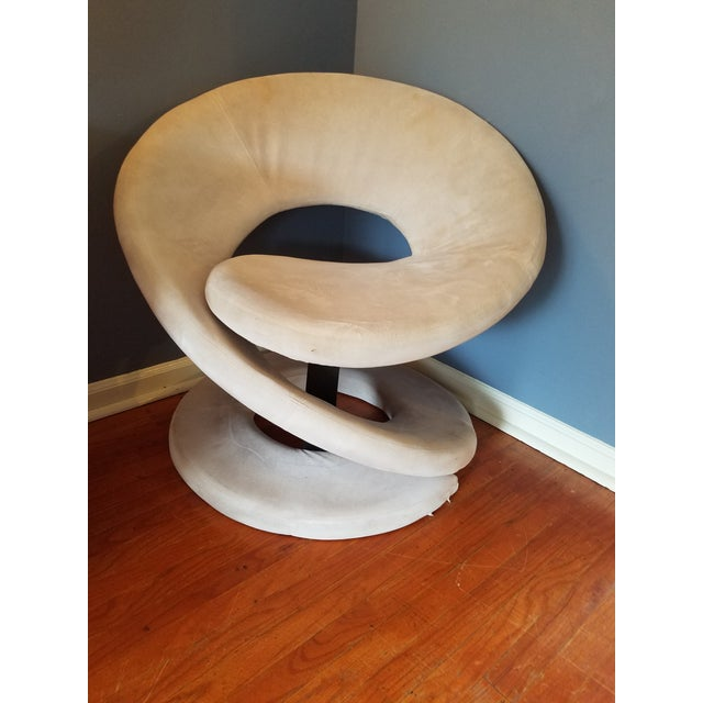 Gray Sculptural Spiral Lounge Chair After Louis Durot For Sale - Image 8 of 9
