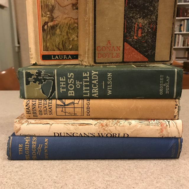 """Set of 6 assorted books. Books are in overall good condition with minimal wear from age/use. Includes: - """"Hans Brinkler or..."""
