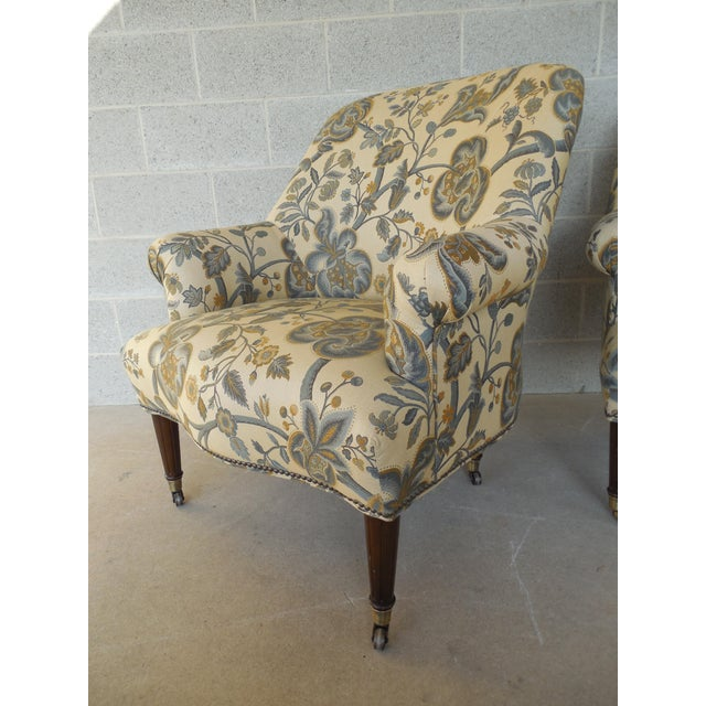 Kravet Furniture Regency Style Accent Club Chairs - A Pair - Image 10 of 11