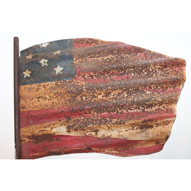 Original Painted Flag from a Weather Vane Fragment - Image 3 of 7