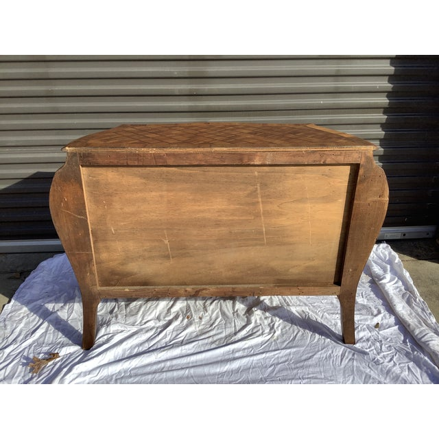 1960s Italian Bombay Chest W/ Parquetry For Sale - Image 5 of 13