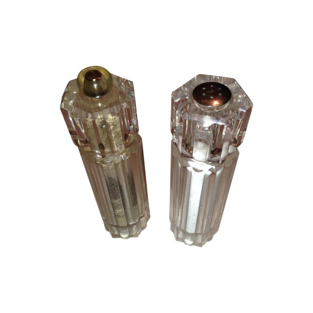 Lucite Vintage Salt and Pepper Mills - Image 1 of 3