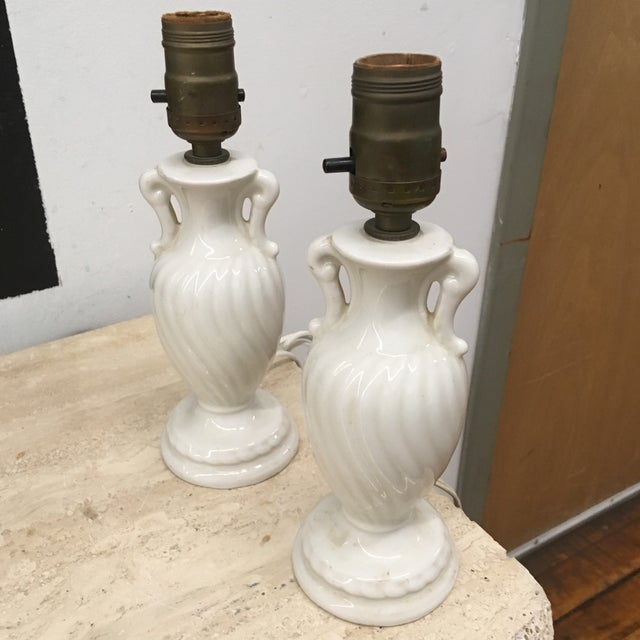 Late 20th Century Lamps - Vintage Petite Urn Shaped Lamps - a Pair- For Sale - Image 5 of 6