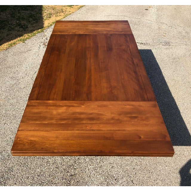 This beautiful solid maple table was made by Vermont based H.T. Cushman for its Cushman Colonial line. In very nice...