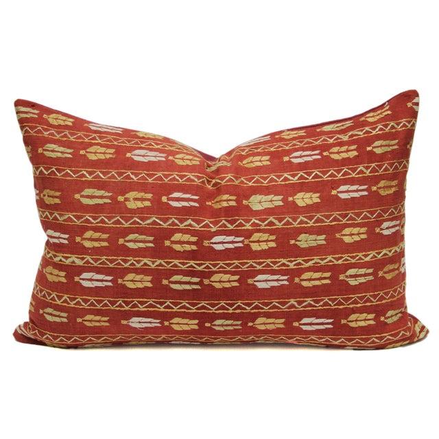 Tribal Bagh Phulkari Lumbar Pillow - Image 1 of 3