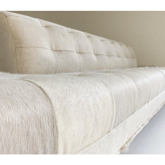 Adrian Pearsall Sofa in Brazilian Cowhide For Sale - Image 10 of 13