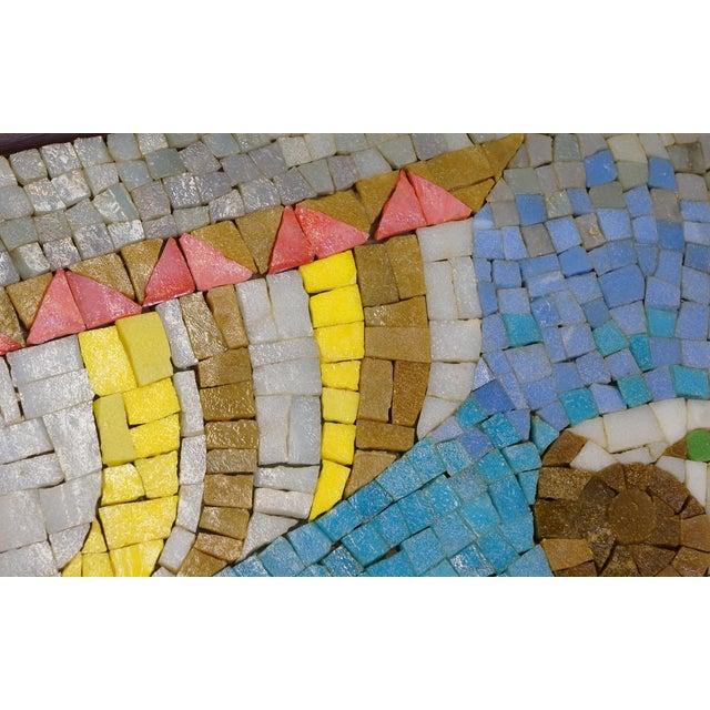 Rare Evelyn Ackerman Mosaic Tile Wall Hanging, Grecian Long Boat Scene - Image 5 of 8