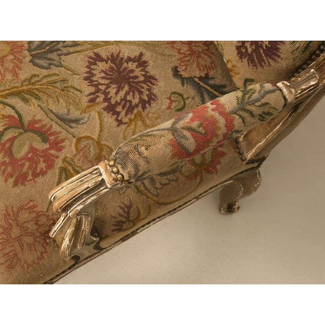 Textile Original Paint Antique Italian Armchairs with Needlepoint - a pair For Sale - Image 7 of 10