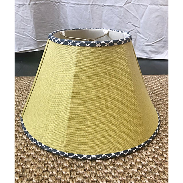 Fun whimsical custom lampshades made out of designer fabric, Dogwood and House of Harris, to the trade. Trim on the...