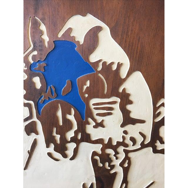 Horse Racing Carved Art by Ken Daddario - Image 5 of 8