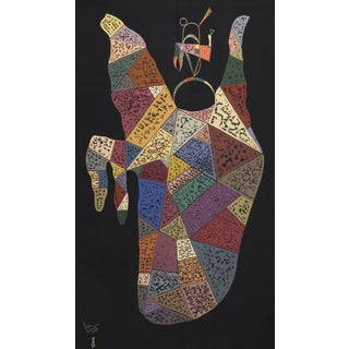 "Unique Modern Tapestry Designed by Wassily Kandinsky - ""Sur Fond Noir"" For Sale"