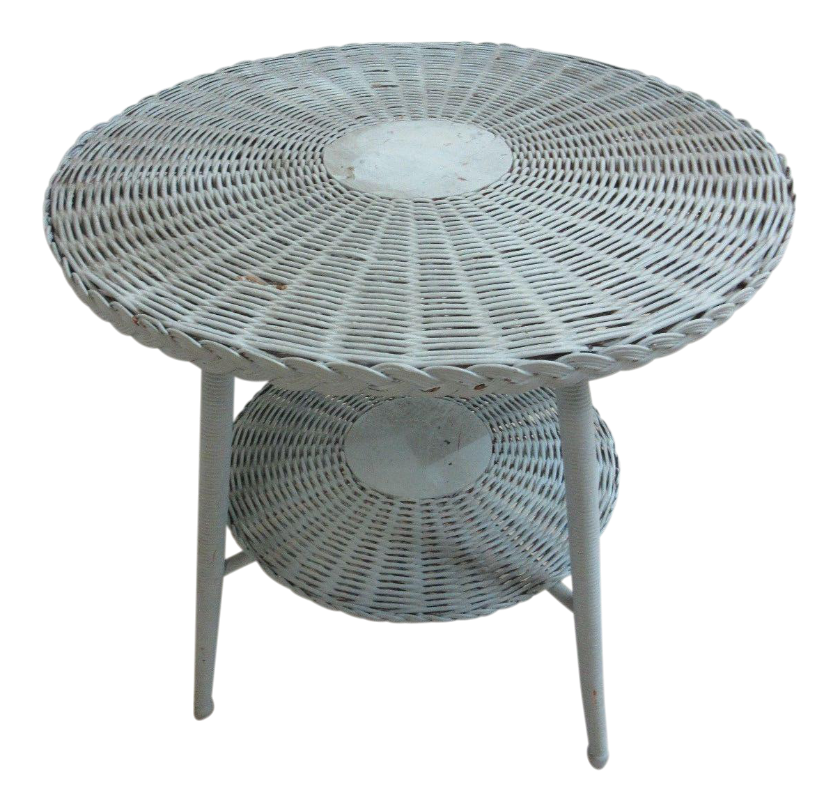 Antique Victorian Wicker Patio Dinette Table