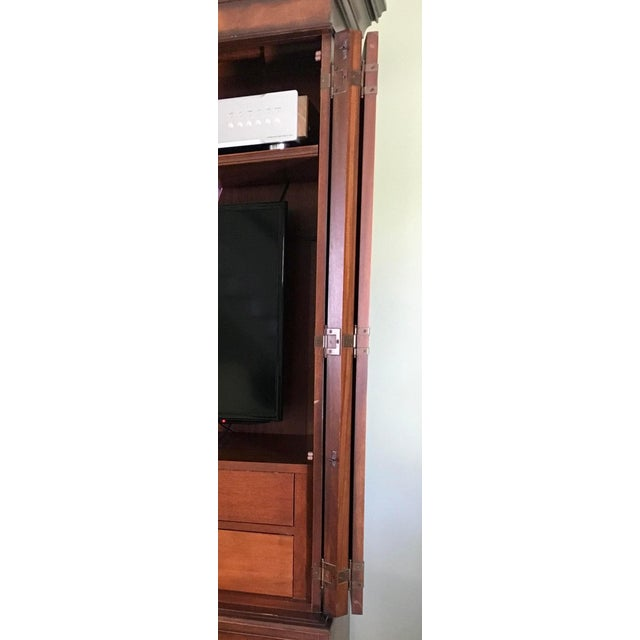 English Ethan Allen Newport Collection Mahogany Armoire For Sale - Image 3 of 12
