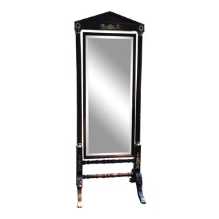 19th Century French Empire Cheval Mirror For Sale