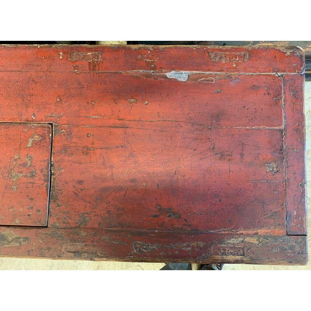 Paint 20th Century Tibetan Dowry Chest For Sale - Image 7 of 10