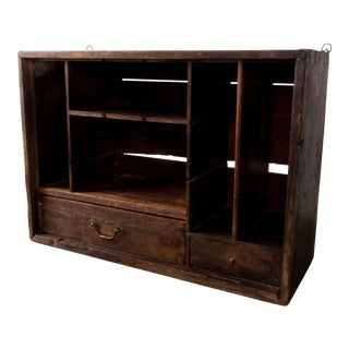 Early 19th Century Rustic Farm House Pine Cabinet For Sale