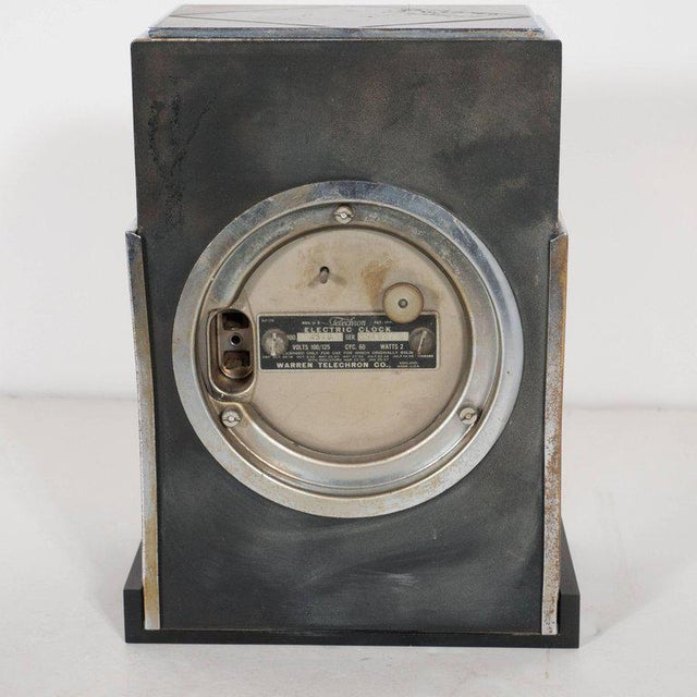 """Chrome """"Modernique"""" Clock by Paul Frankl for Warren Telechron Company, circa 1928 For Sale - Image 7 of 9"""