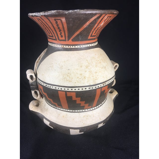 Mid-Century Peruvian Pottery Vase For Sale - Image 4 of 8