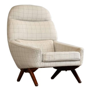 Danish Midcentury Leif Hansen Lounge Chair For Sale