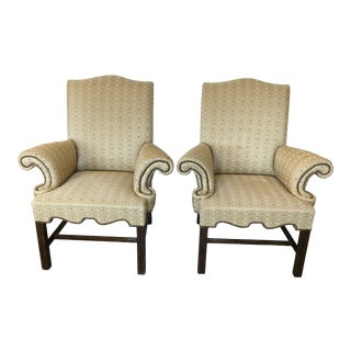 Designer Club Chairs -A Pair For Sale