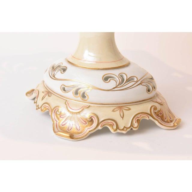 19th Century Old Paris Porcelain Centerpiece, Hand-Painted Florals For Sale - Image 4 of 11