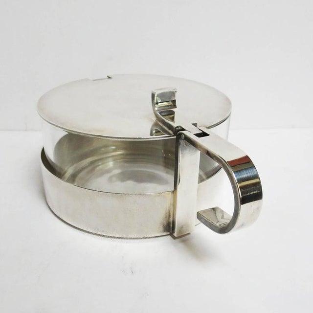 Christofle Christofle Silver and Crystal Sugar Bowl For Sale - Image 4 of 8