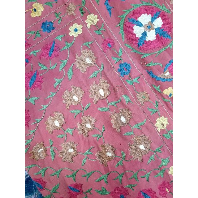 Vintage Turkish Bokara Suzani Blanket For Sale - Image 9 of 11