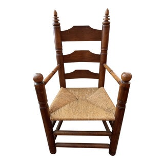 Early 20th Century Antique Pilgrim Chair Signed Wallace Nutting For Sale