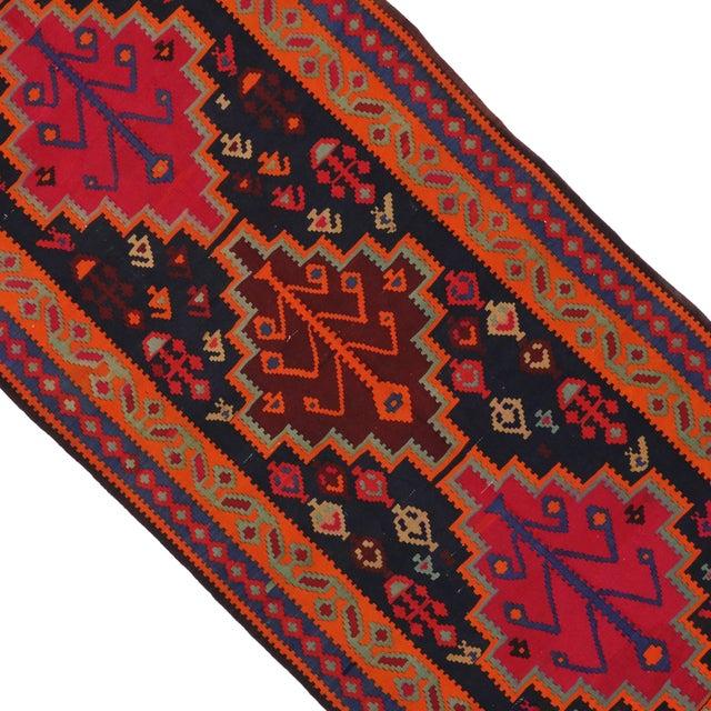 "Boho Chic Vintage Persian Tribal Kilim Rug Runner - 5'3"" X 11'3"" - Image 4 of 6"