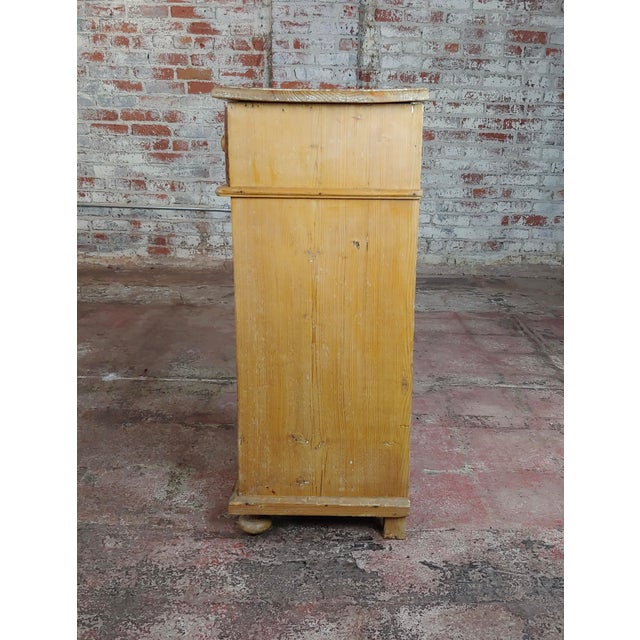 Antique Pine Cabinet Stand For Sale - Image 4 of 10