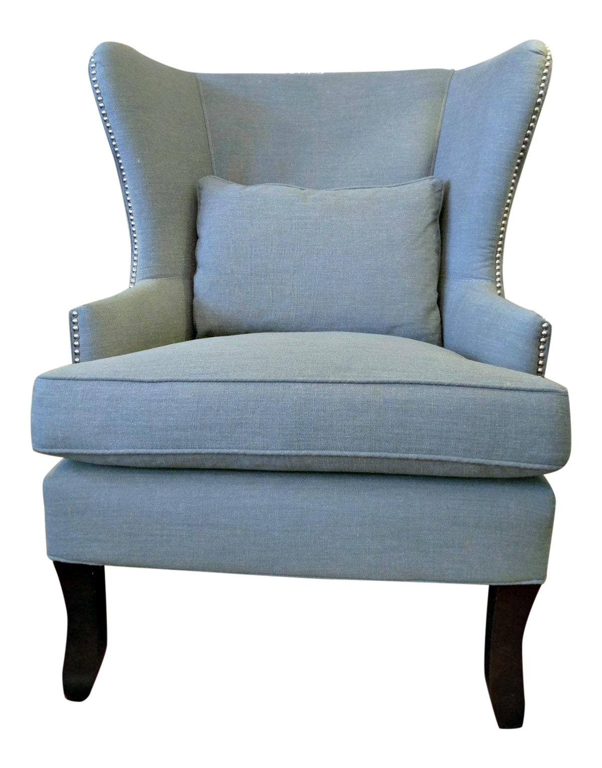 Awesome Klaussner Krauss Oversized Nailhead Detail Wingback Chair
