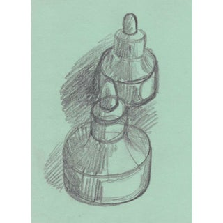 Still Life of Ink Bottles by James Bone For Sale