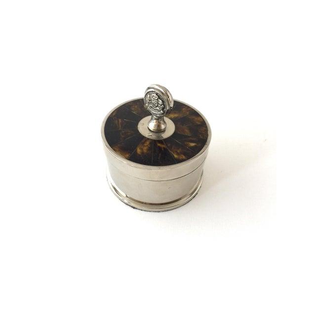 Ralph Lauren Traditional Ralph Lauren Tortoise Shell Trinket Holder Jewelry Box For Sale - Image 4 of 10