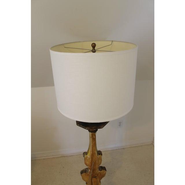 Baroque Italian Style Gilt Wood Floor Lamp For Sale - Image 11 of 12