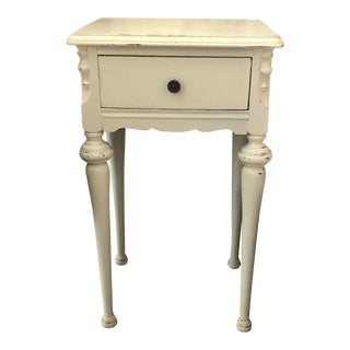 Vintage Petite French Shabby Chic Night Stand For Sale
